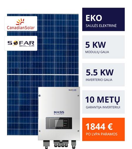 Saulės elektrinių EKO pasiūlymas